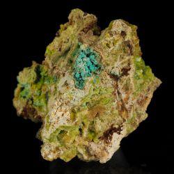Wavellit, turkus - rzadkie minerały z grupy fosforanów - Hiszpania