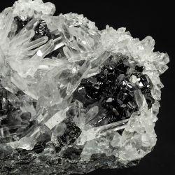 Kryształ górski, sfaleryt - Bułgaria