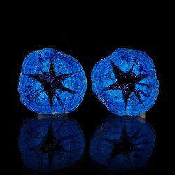 Azuryt - geoda z kryształami - dwie połówki - Rosja