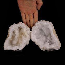 Kryształ górski - geoda - dwie części - Maroko