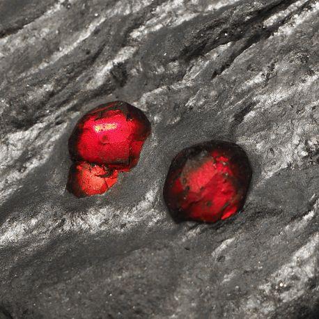 Granat almandyn w łupku grafitowym - USA