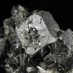 Galena, kryształ górski, sfaleryt, chalkopiryt - Bułgaria