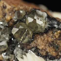 Kryształy rzadkiego cerusytu, baryt - Maroko