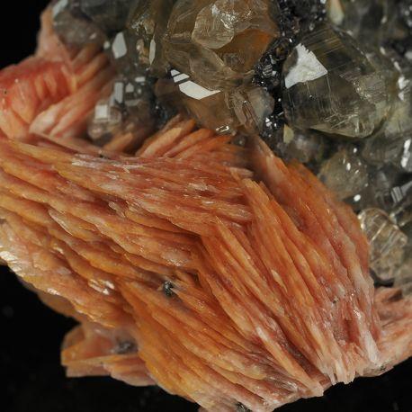 Kryształy rzadkiego cerusytu, baryt, galena - Maroko