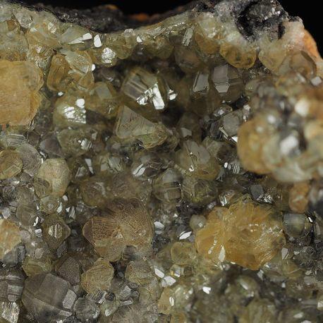 Kryształy rzadkiego cerusytu, galena - Maroko