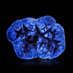 Azuryt - geoda z kryształami - połówka - Rosja