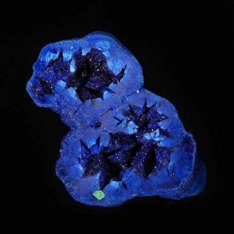Azuryt, malachit - geoda z kryształami - połówka - Rosja