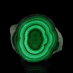 Naciekowy malachit - polerowana płytka - Kongo