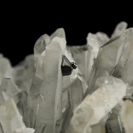 Kryształ górski, galena, piryt - Bułgaria